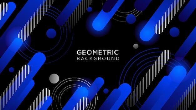 幾何学的な青い形のベクトルの背景