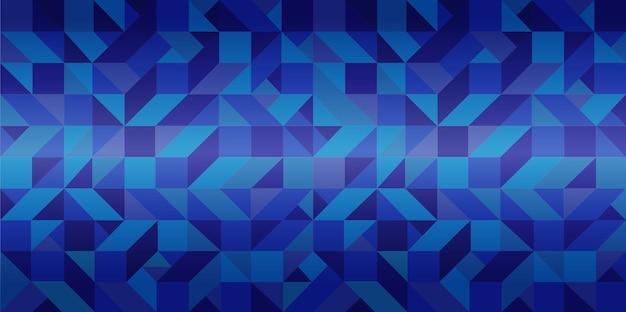Geometric blue triangle background
