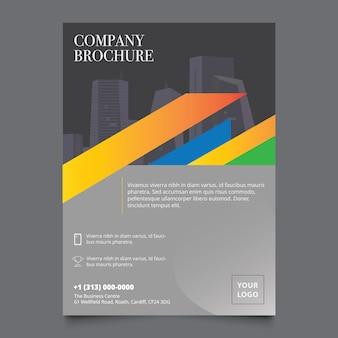 Geometric brochure design template