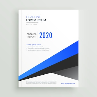 Geometric brochure design vector template