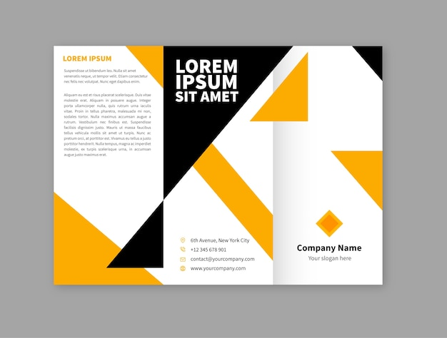 Geometric brochure template