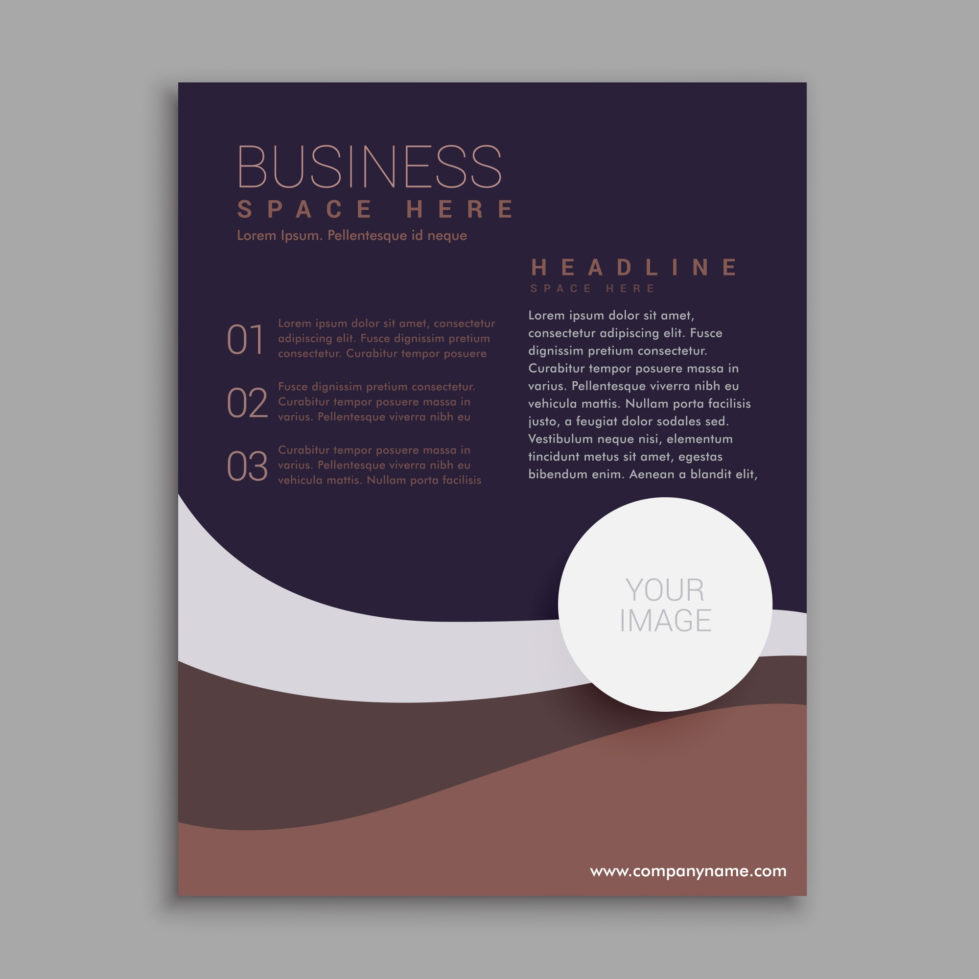 Geometric brochure with dark colors