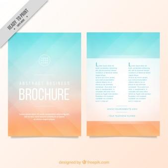 新鮮な色で幾何学的なパンフレット