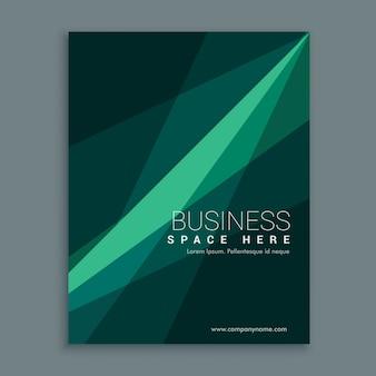 Creativo verde opuscolo volantino modello di copertina disegno astratto in formato a4