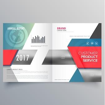 Moderno copertina di una rivista di business creativo o di design modello di brochure bifold