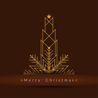 Geometric brown christmas background