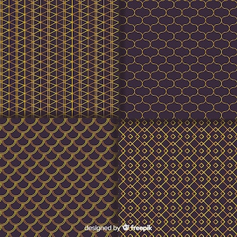 Geometric brown luxury pattern collection