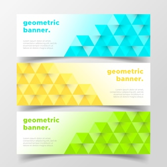 Geometric business banners