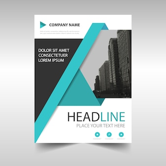 Geometric business brochure with orabusiness geometric brochure with turquoise shapes