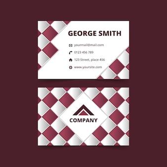 Geometric business card . branding card.