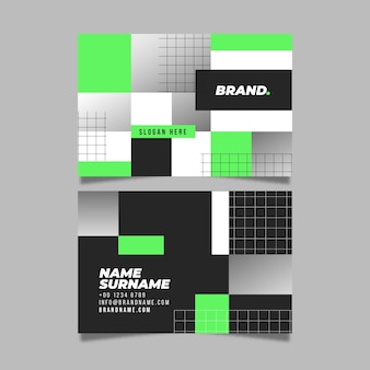 Geometric business card collection