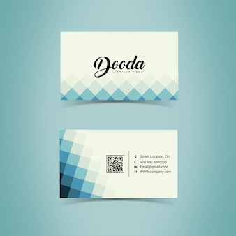 Geometric business card desig