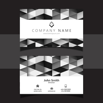 Geometric business card design