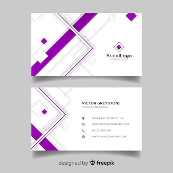 Geometric business card template in abstract style