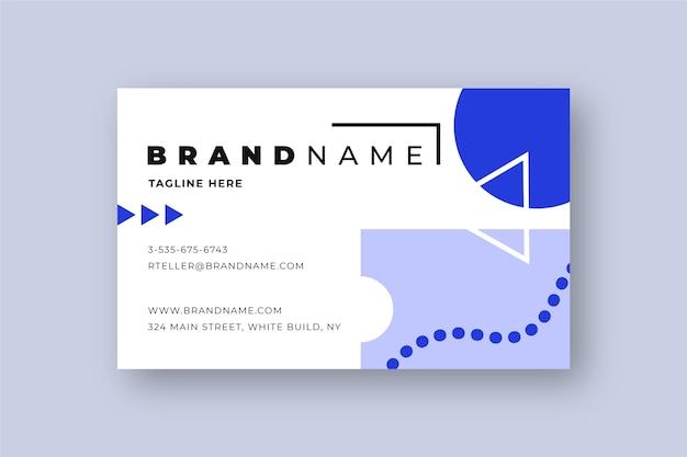 Geometric business card template
