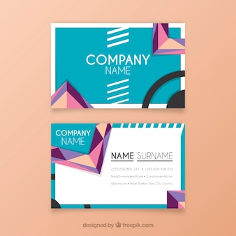 Geometric business card with fun style