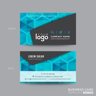 ブラックとアクアブルー近代的なビジネスカードのデザイン