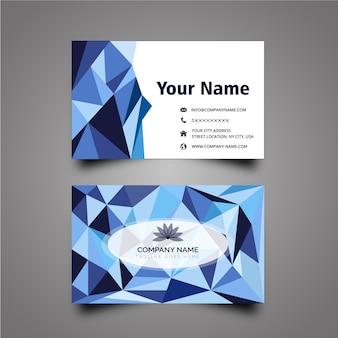 Геометрическая визитная карточка