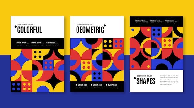 Шаблон коллекции геометрических бизнес-обложек