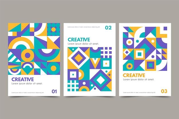 Collezione di copertine aziendali geometriche Vettore gratuito