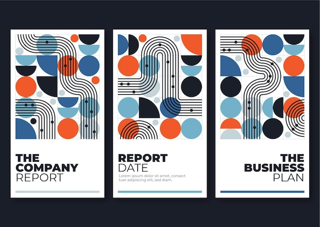 Geometric business cover collection