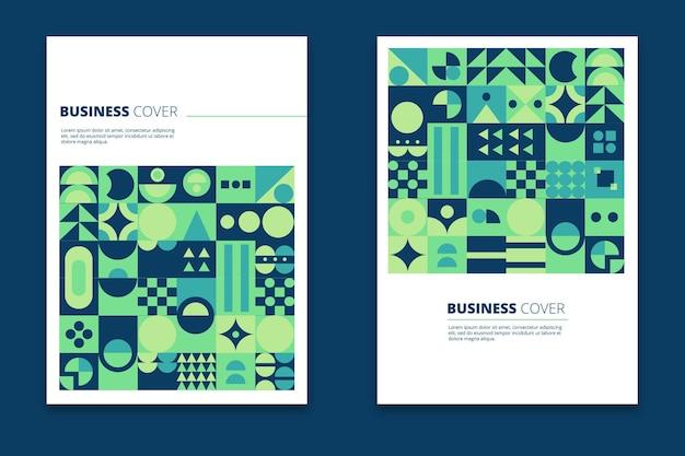 幾何学的なビジネスカバーコレクション