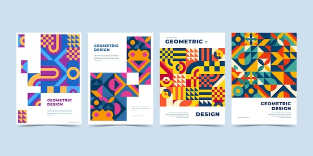 Geometric business cover