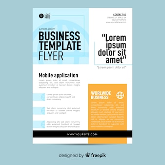 Geometric business flyer template flat design