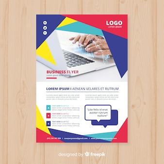 Geometric business flyer template