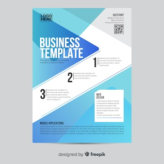 Geometric business infographic flyer template