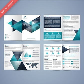 Geometric business leaflet