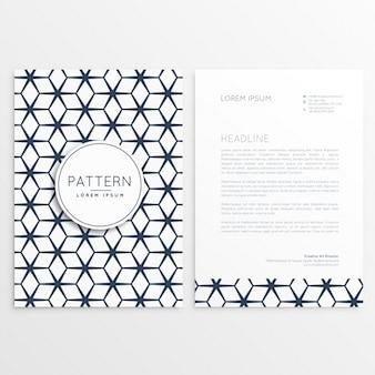 Geometric business letterhead