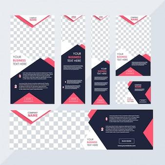 Geometric business stationery