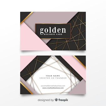 Geometric bussines card template