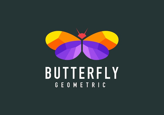 Geometric butterfly shape modern logo