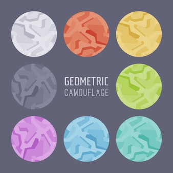 Geometric camouflage backgrounds