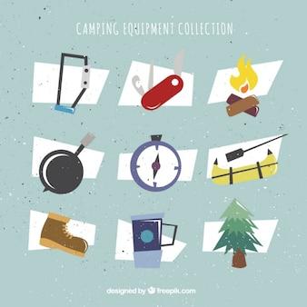 Geometric camping accessories set