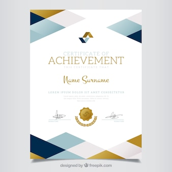 Geometric certificate of achievement