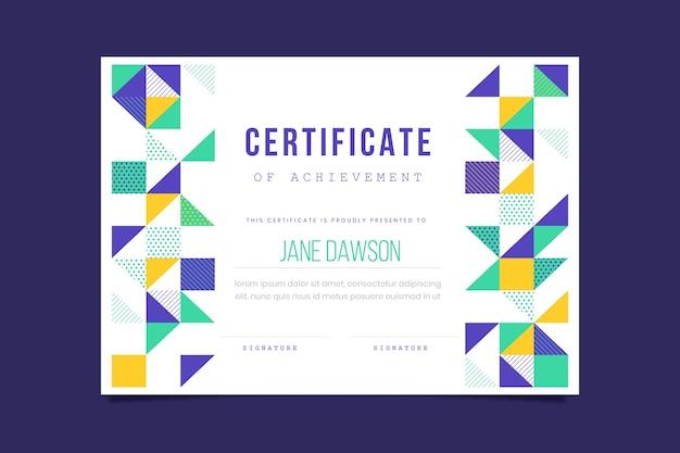 Disegno del modello di certificato geometrico