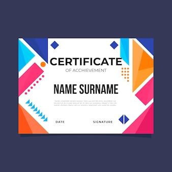 Geometric certificate template theme