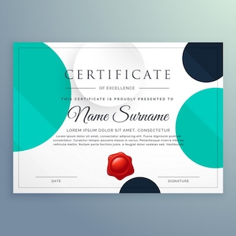 Geometric certificate with circles