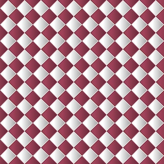Geometric chess board seamless pattern background in red color