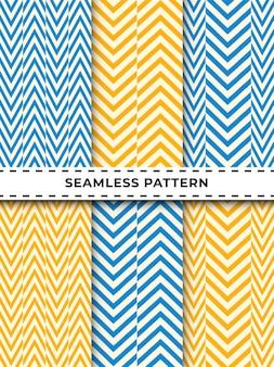 Geometric chevron zigzag seamless pattern