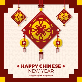 Geometric chinese new year background
