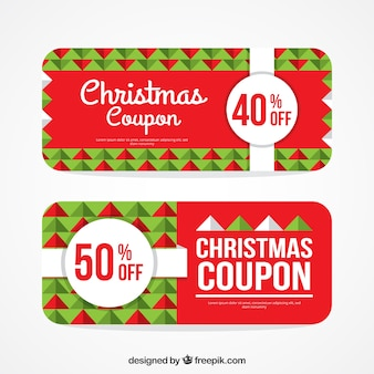 Geometric christmas coupon