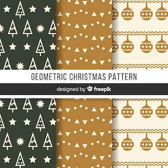 Geometric christmas pattern collection