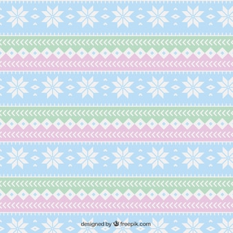Geometric christmas pattern in pastel colors