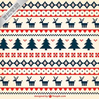 Geometric christmas pattern