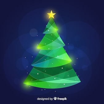 Geometric christmas tree background