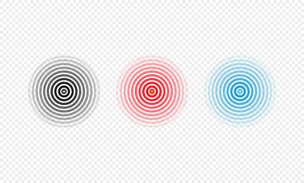 幾何学的な円。リサイクルサークルカラフルなアイコンコレクション。孤立した背景上のベクトル。 eps10。
